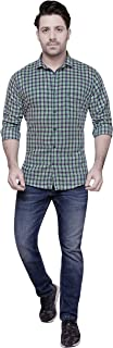 COTTON LEAF APPARELS Mens Casual Cotton Full Sleeve Checks Shirt