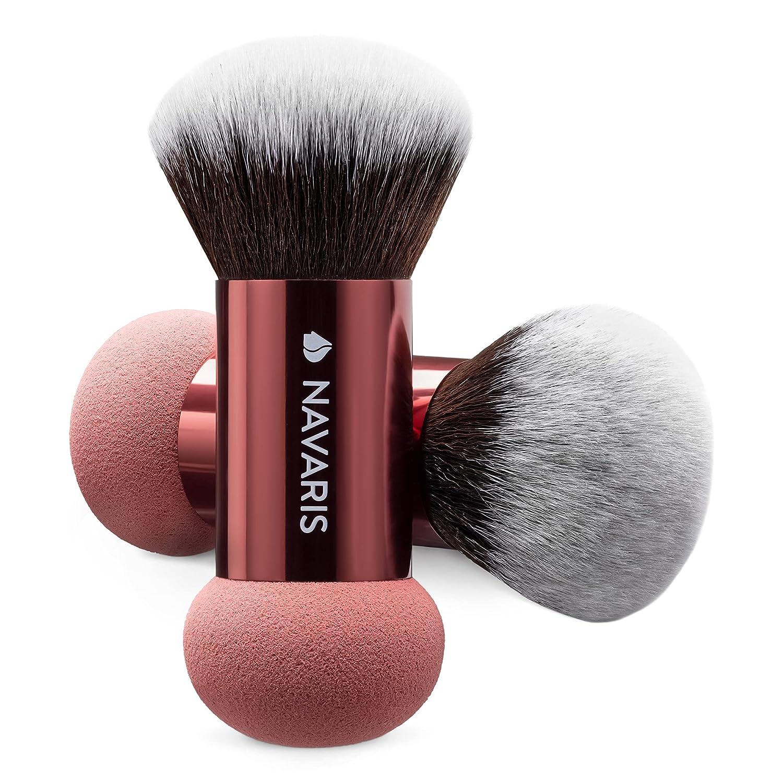Navaris Award-winning store 5 popular Double Ended Makeup Sponge Brush 2 - of Tool Combo Set