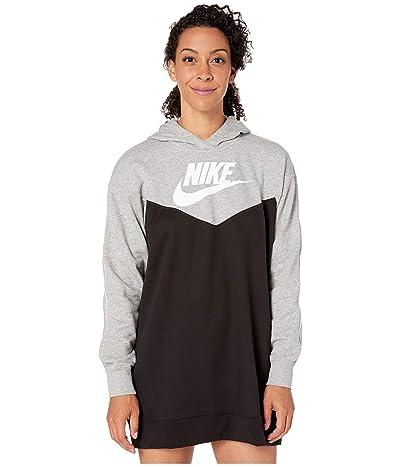 Nike NSW Heritage Hoodie Dress SB (Black/Dark Grey Heather/White/White) Women