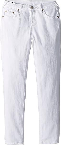 True Religion Kids Casey Ankle Skinny in Bleached White (Big Kids)