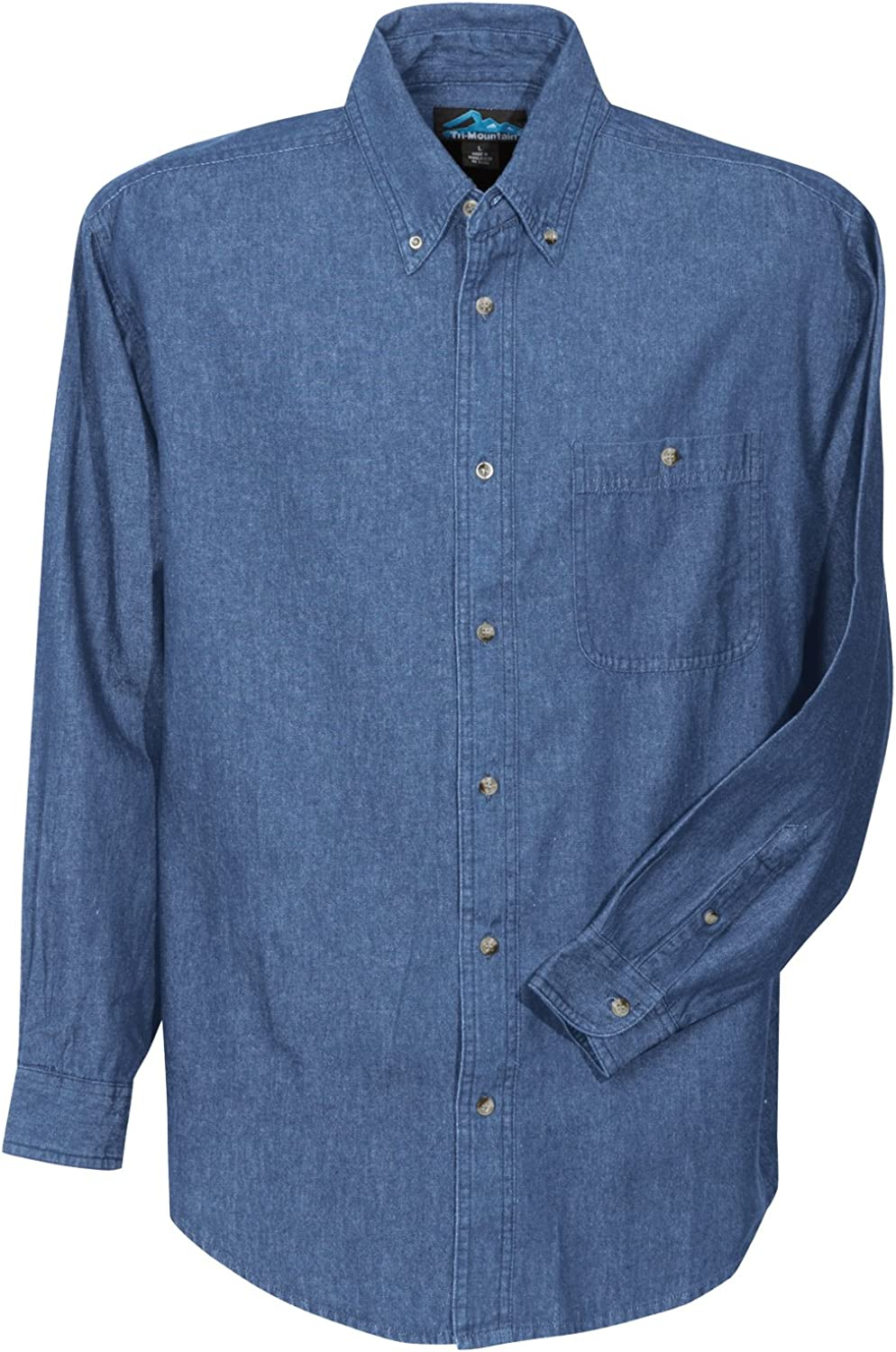 Big and Tall Long Sleeved Denim Shirts in 4 Colors up to Size 6X