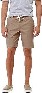 Arcweg Mens Shorts Loose Casual with Pockets Elastic Waist Drawstring Cotton Men Shorts Summer Knee Length Breathable Clas...