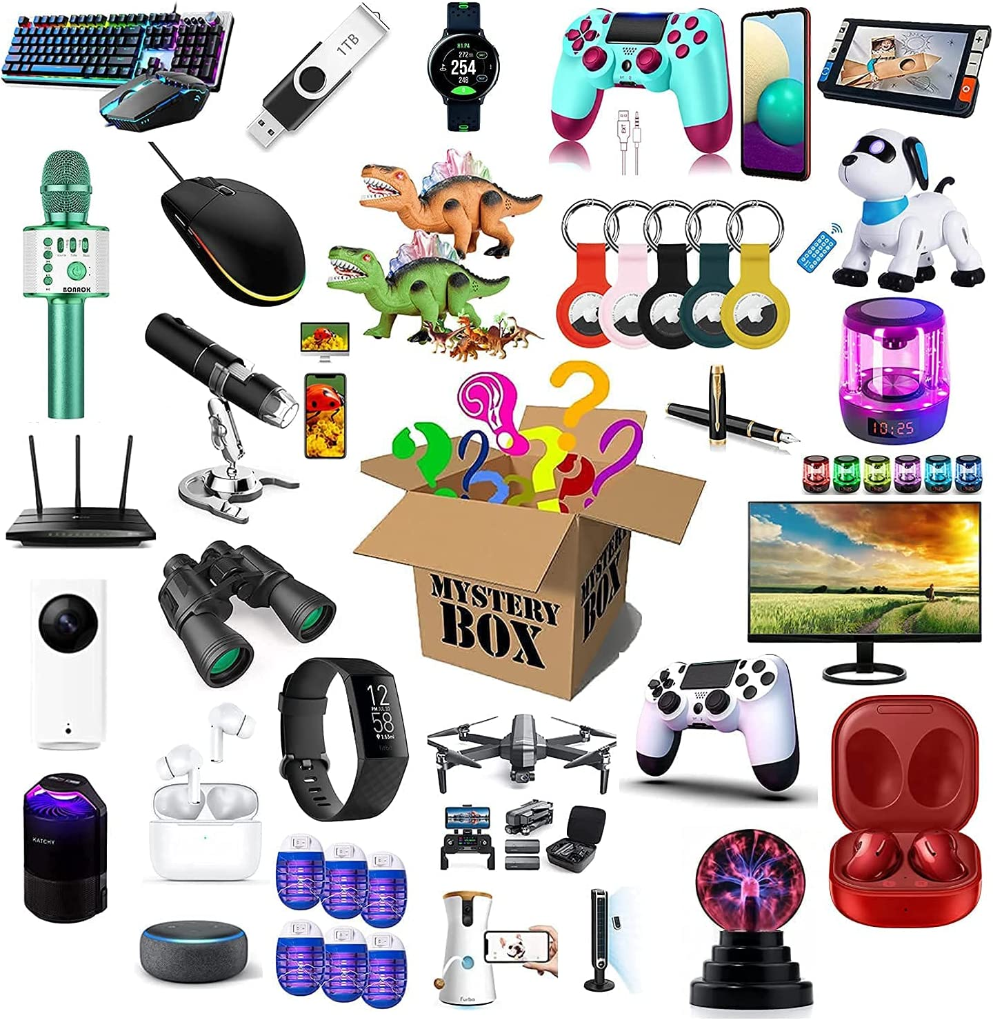 Multiple sets Hundreds of products Box Electronic Spring new work one after another Lucky Mystery Manufacturer direct delivery