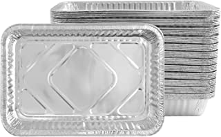 Party Bargains Disposable Aluminum Foil Pan | Premium Quality Durable Steam Table Pans for Baking, Roasting, Homemade Cakes, Breads - Size 12 X 8 X 1.75 | Pack of 50