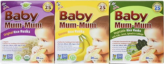 Baby Mum-Mum Variety Pack of 3 Original Banana and Vegetable 1.76 Oz each