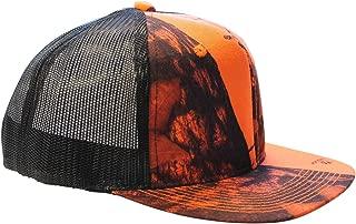 Mossy Oak Blaze Cap Trucker Style Mesh Snapback Hat Orange Camo