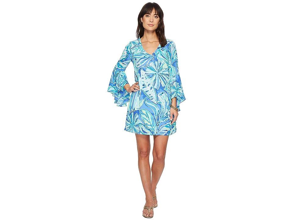 Lilly Pulitzer Rosalia Dress (Beckon Blue Palm Passage) Women