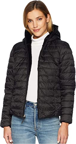 Melrose Reversible To Fur Short Packable Puffer
