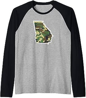 Georgia Home Shirt, Hunting Gear, Camo Map Apparel Raglan Baseball Tee