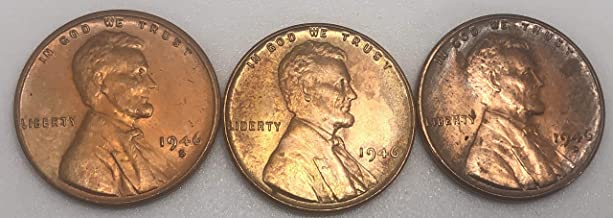 1946 P D S Lincoln Wheat Cents Penny F-AU