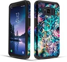 Townshop Galaxy S8 Active Case, Dual Layer Shockproof Hybrid Case for Samsung Galaxy S8 Active - Mandala in Galaxy