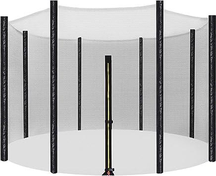 SONGMICS Sicherheitsnetz für Trampolin, Ersatznetz Ø 244 für 6 Stangen, Ø 305, 366 cm für 8 Stangen, rundes Schutznetz für Gartentrampolin