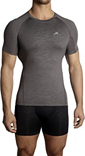 Mission Men's VaporActive Compression Shirt, Charcoal, Large