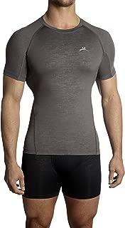 Mission Men's VaporActive Compression Shirt, Charcoal, Medium