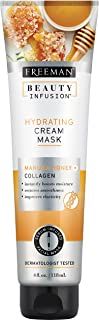 Freeman Beauty Infusion Hydrating Cream Facial Mask with Collagen and Manuka Honey, Smoothing Beauty Face Mask, 4 oz