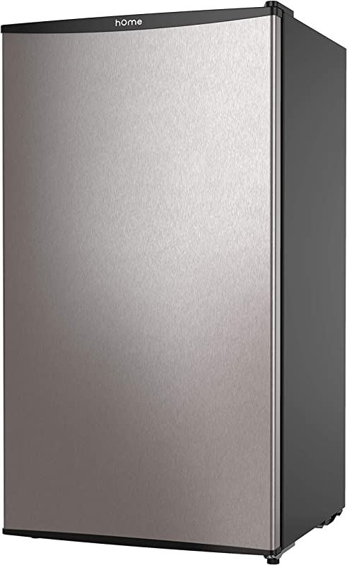 HOmeLabs Mini Fridge 3 3 Cubic Feet Under Counter Refrigerator With Covered Chiller Compartment Small Drink Food Storage Machine For Office Dorm Or Apartment With Removable Glass Shelves
