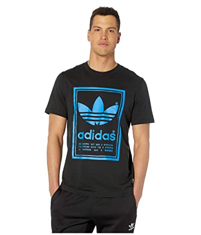 adidas Originals Vintage Tee (Black/Bluebird) Men