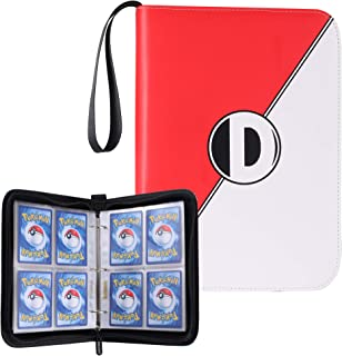 D DACCKIT Carrying Case Binder Compatible with Pokemon Card, Holds Up to 400 Cards..