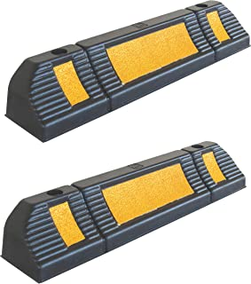 Parking Stopper for Garage Floor, Blocks Car Wheels as Parking Aid and Stops the Tires, acting as Rubber Parking Curbs that Protect Vehicle Bumpers and Garage Walls, 23.6