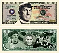 American Art Classics Star Trek Spock Limited Edition Leonard Nimoy Collectible Million Dollar Bill in Currency Holder