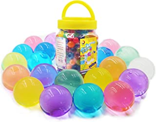 Jangostor Large Water Gel Beads 11 Ounces (300pcs) Gaint Water Jelly Pearls Rainbow Mix for Kids Sensory Playing, Wedding ...