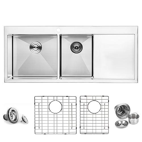 Kitchen Sink With Drainboard: Amazon.com