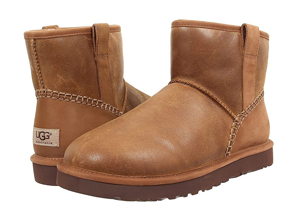 UGG Classic Mini Stitch (Chestnut Leather) Men