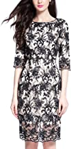 Joy EnvyLand Women Slim Sheath Tunic Cocktail Prom Party Lace Embroidered Dress