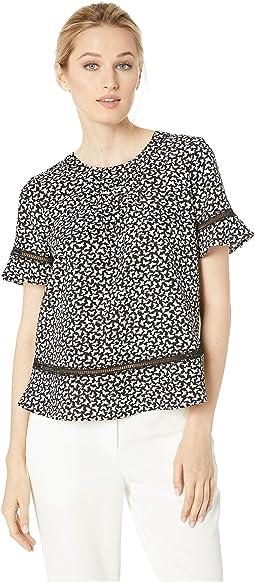 812f2c9604eb30 Ivanka trump stretch lace ruffle blouse, Clothing | Shipped Free at ...