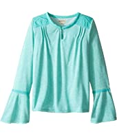 Lucky Brand Kids - Peasant Top with Embroidery and Bell Sleeve (Big Kids)