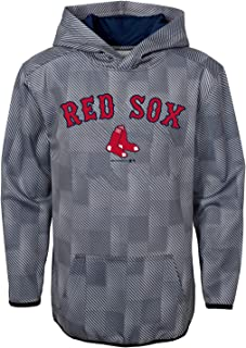 MLB Youth Performance Heather Gray First Pitch Pullover Sweatshirt Hoodie