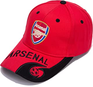 bd5e1c7e763 DanielFelix Arsenal F.C. -Embroidered Authentic EPL Adjustable Red Baseball  Cap