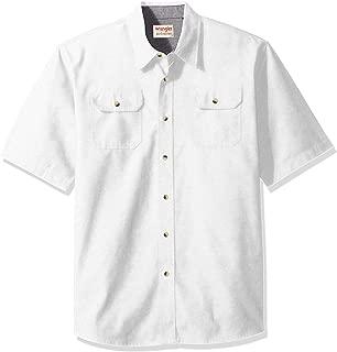 Authentics Men's Short Sleeve Classic Twill Shirt