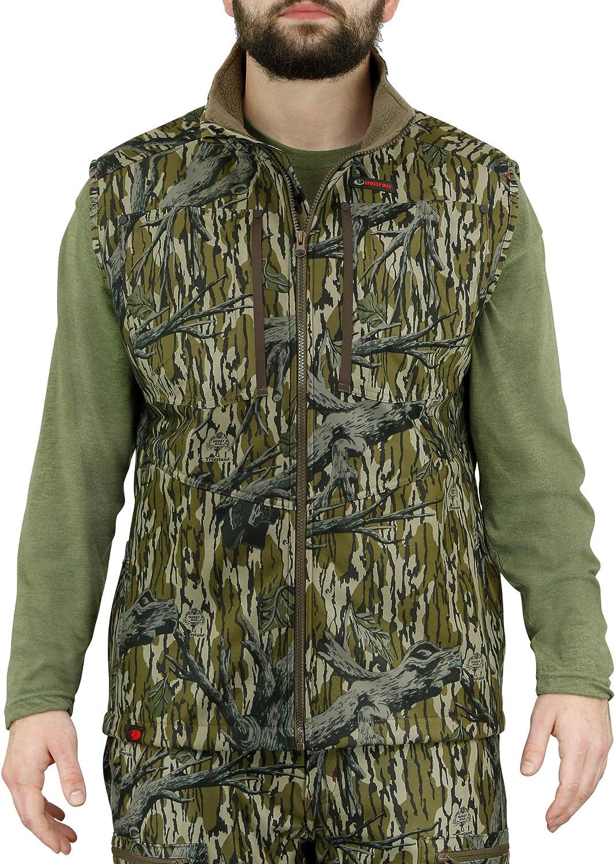 Mossy Topics on TV Oak Elegant Sherpa 2.0 Fleece Lined Vest Camo Men for Hunting Cam