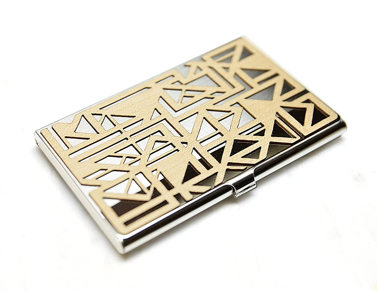 We OFFer at cheap prices Gold Fresno Mall and Grain Detroit Wood Business Stee Card Stainless Case