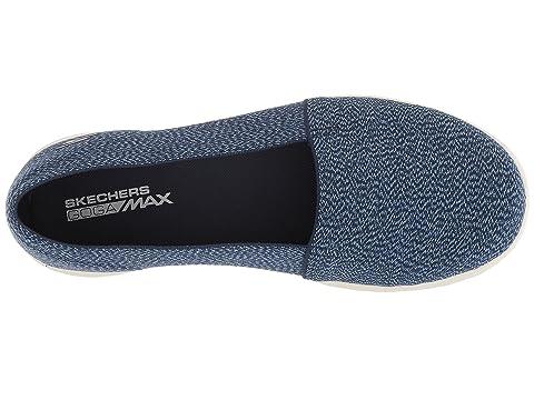 Ancho Lite Negro Gowalk Skechers Rendimiento De Graynavy Prendado BXR61xq