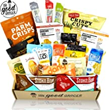KETO Friendly Snacks Gift Care Package (20ct): Ultra Low Carb, High Fat, Ketogenic, Gluten Free, No Added Sugar, Healthy Fats, Low Glycemic Healthy Gift Box, Gift Basket Alternative, Variety Pack