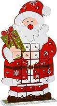 WeRChristmas Wooden Santa Advent Calendar Christmas Decoration, 44 cm - Multi-Colour