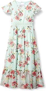 Speechless girls Short Sleeve Tiered Maxi Dress Short Sleeve Tiered Maxi Dress