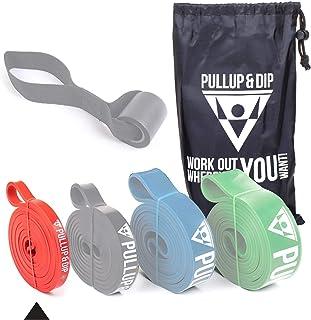 Opaski fitness PULLUP & DIP z torbą, kotwicą do drzwi (do zestawów) i instrukcją ćwiczeń - pojedynczo i w zestawie w niski...