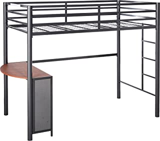 Fisher Twin Metal Workstation Loft Bed Gunmetal