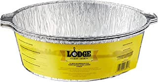 Lodge A12F3 12-Inch Aluminum Foil Dutch Oven Liners 3-Pack Silver