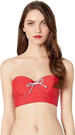 1950s Style Katy Swim Crop Top
