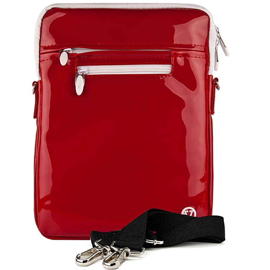 VanGoddy Slim 10-inch Patent Red Tablet Carrying Case Bag for Chuwi Hi Pad, Batai, Lectrus, Yuntab D12 K98, Winnovo VTab, Yellyouth, Kivors, Nextbook Ares 10A, Wecool, iBowin M130, YDZB 2018