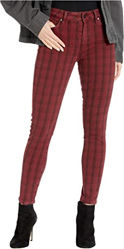 Red Linear Catcher Plaid