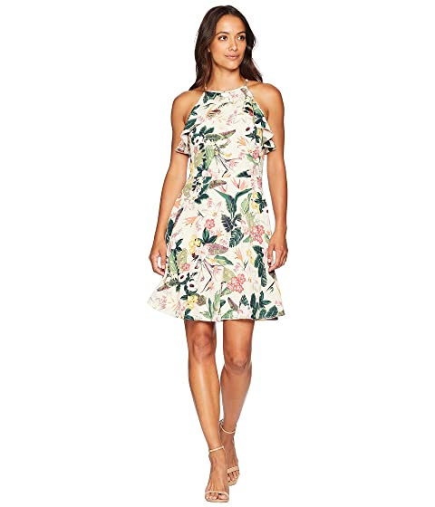 747ed25b7d7 London Times Printed Crepon Fit   Flare Dress at 6pm