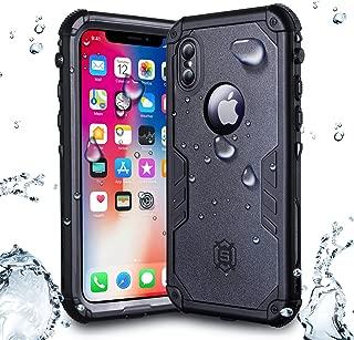 Kejiluosi iPhone X/iPhone Xs Waterproof Case, IP68 Certified 360-Degree Protection Sealed Snow-Proof Dustproof Shockproof Underwater Protective Case