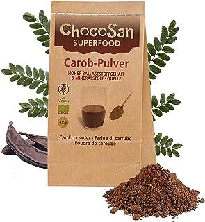 Carobpulver BIO 1kg, Johannisbrot gemahlen, fettarmer Kakao-Ersatz, kalorienarme Alternative zu Schokolade, 31% ! Ballaststoffe, vegan, schonend getrocknet, plastikfrei abgepackt