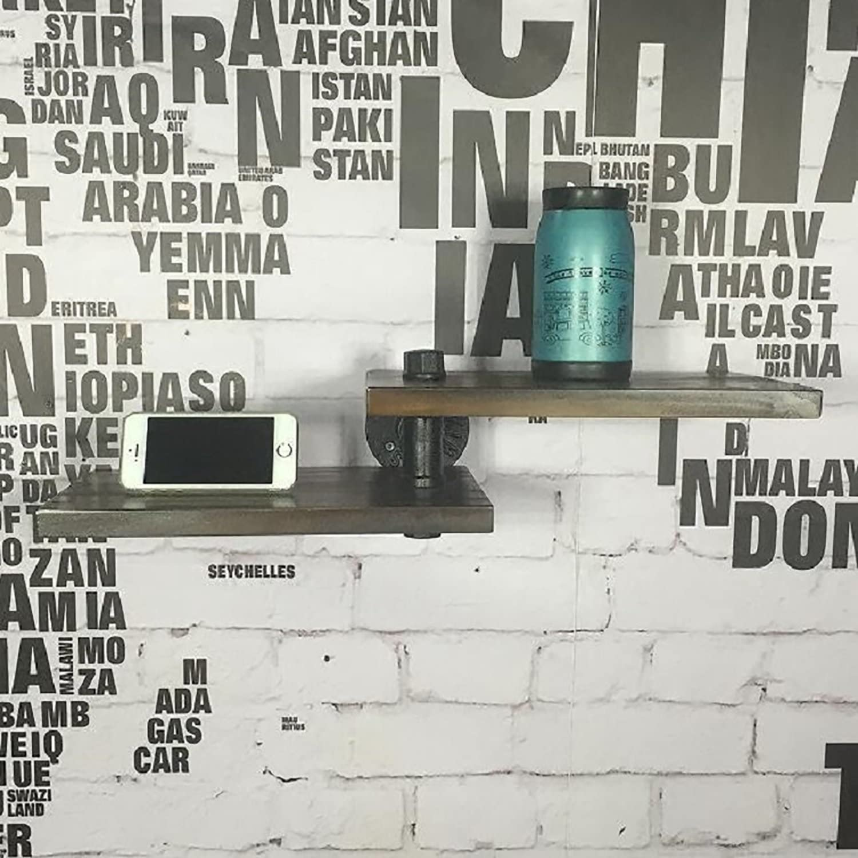 Wall Decorations LOFT Iron Solid Wood Shelf Shelving
