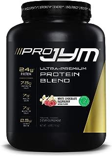 Pro Jym Protein Powder - Egg White, Milk, Whey protein isolates & Micellar Casein   JYM Supplement Science   Natural White Chocolate Raspberry, 4 Pound
